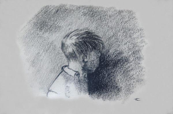 Figure Study Print by Thomas Luca