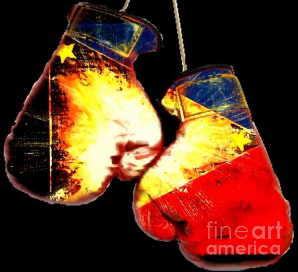 Filipino Boxer Painting