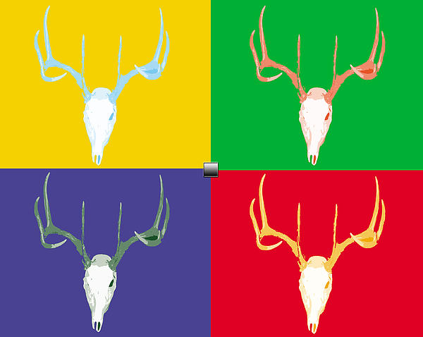 Filtered Deer Print by John Mathias