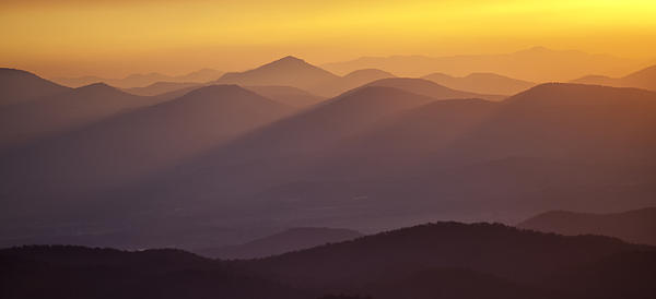 Filtered Light On The Blue Ridge Parkway Print by Rob Travis