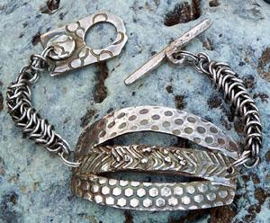 Fine Silver Three In One Bracelet Jewelry