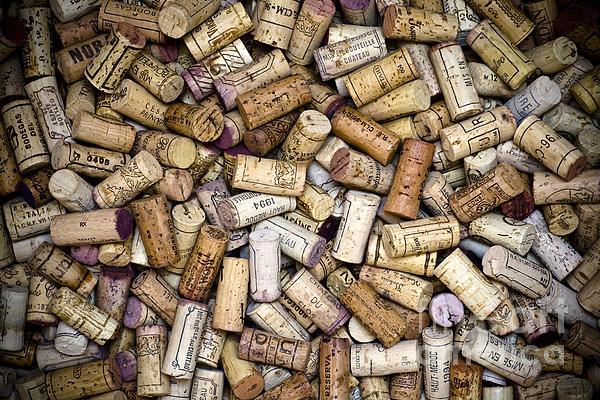 Fine Wine Corks Print by Frank Tschakert