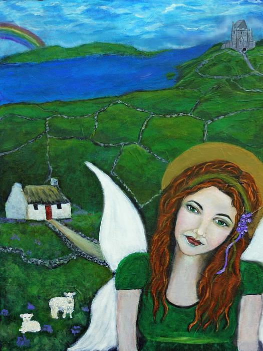 Fiona An Irish Earthangel Print by The Art With A Heart By Charlotte Phillips