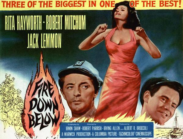 Fire Down Below, Robert Mitchum, Rita Print by Everett