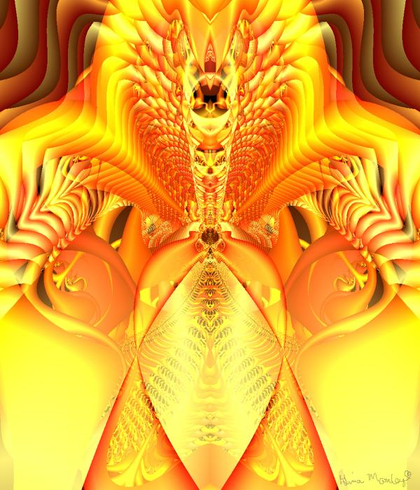 Fire Goddess Print by Gina Lee Manley