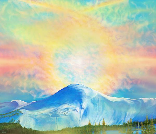 Fire Rainbow Over Alberta Peak Wolf Creek Colorado Print by Anastasia  Ealy