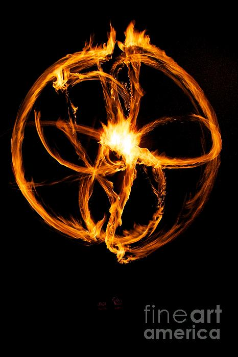 Fire Spinning Print by Darcy Evans