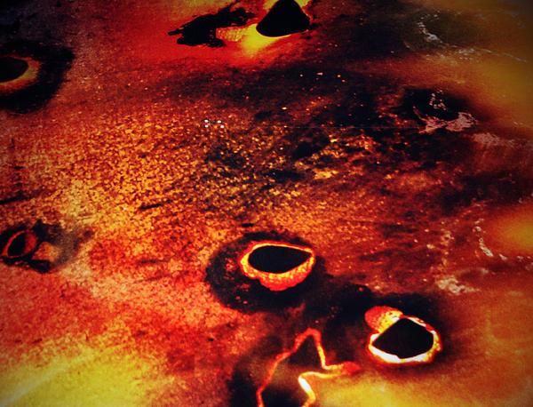 Fire Wall Print by Jerry Cordeiro