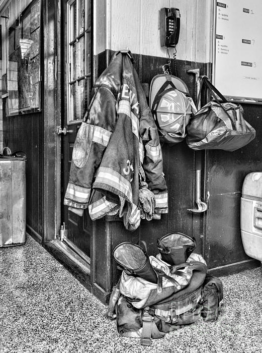Paul Ward - Fireman - Always ready - black and white