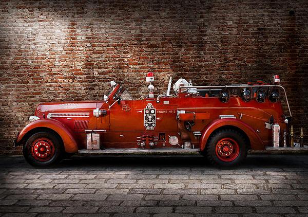 Fireman - Fgp Engine No2 Print by Mike Savad