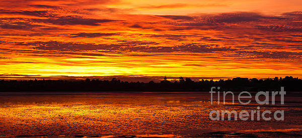 Firery Sunset Sky Print by John Buxton