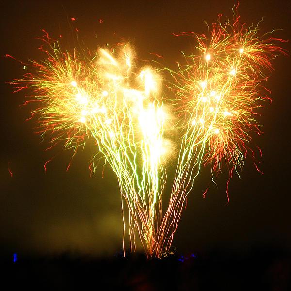 Fireworks 2 Print by Oliver Johnston