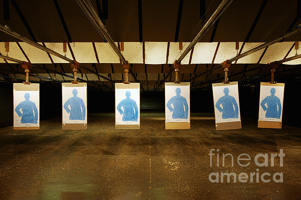 Firing Range Print by Skip Nall