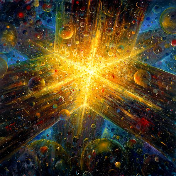 Firmament Painting by De Es Schwertberger - Firmament Fine Art ...