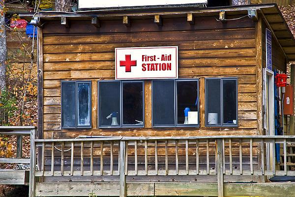 First Aid Station Print by Susan Leggett