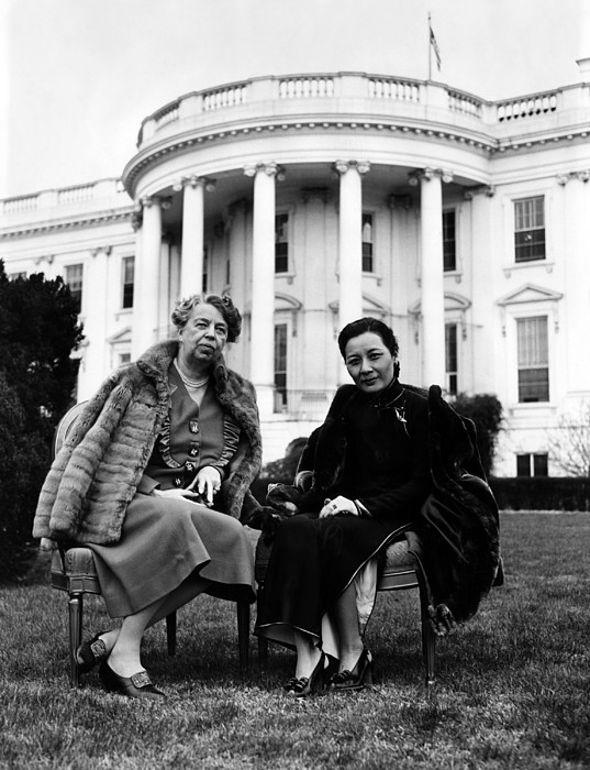 First Lady Eleanor Roosevelt, And Wife Print by Everett