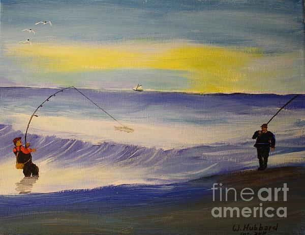 First Light First Wave First Fish Print by Bill Hubbard