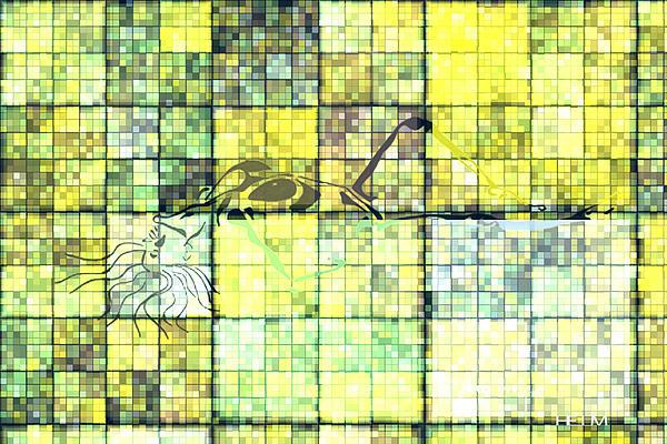 First Time Geometric Yellow Print by Mayhem Mediums