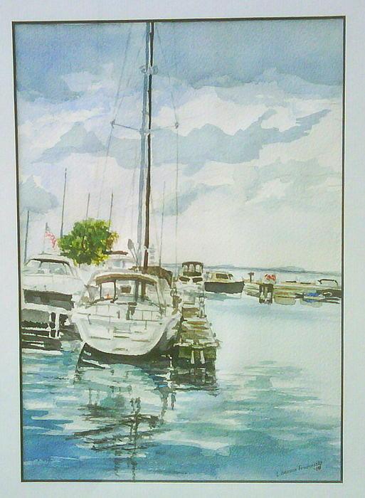 Fish Creek Harbor Print by Laurel Fredericks