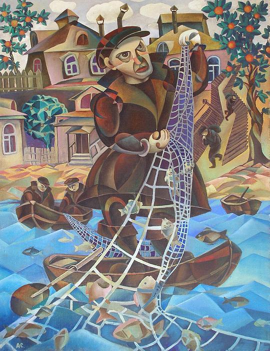 Fisherman Print by Andrey Soldatenko
