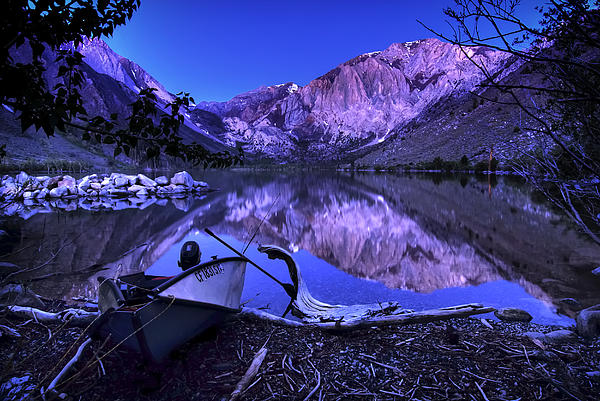 Fishing At Convict Lake Print by Sean Foster