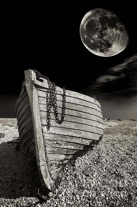 Fishing Boat Graveyard 3 Print by Meirion Matthias