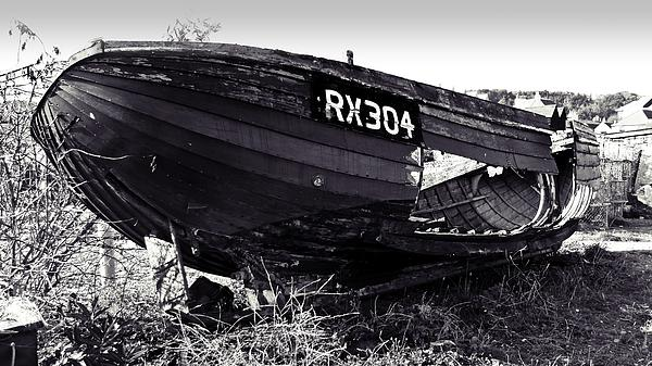 Fishing Boat Wreck Print by Sharon Lisa Clarke