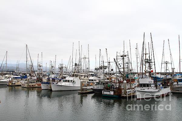 Fishing Boats In Pillar Point Harbor At Half Moon Bay California . 7d8196 Print by Wingsdomain Art and Photography