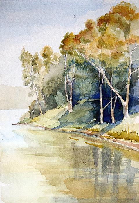Fishing Lake Print by Stephanie Aarons