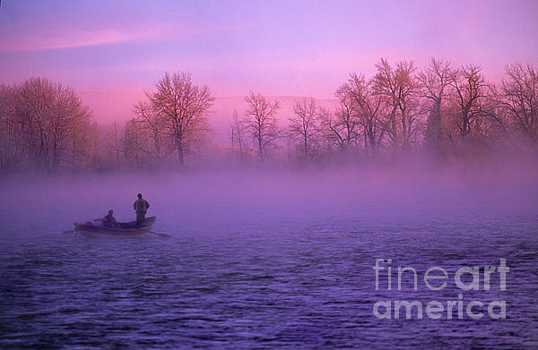 Fishing On The Bow Print by Bob Christopher