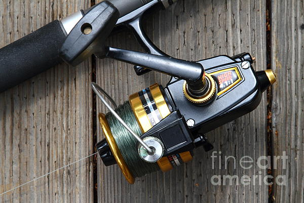 Fishing Rod And Reel . 7d13565 Print by Wingsdomain Art and Photography