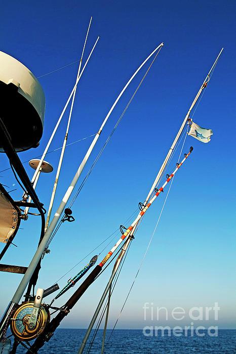 Fishing Rods Print by Sami Sarkis