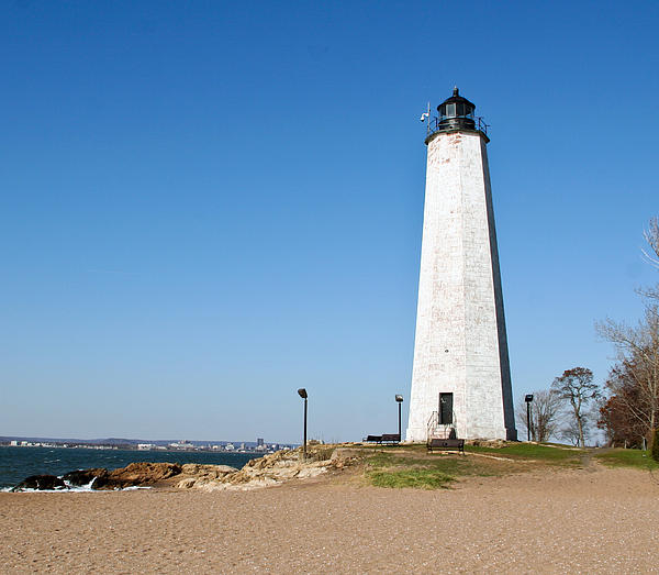 Five Mile Point Light Print by Gerald Mitchell