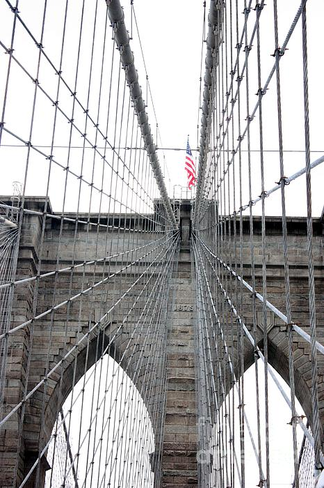 Flagging The Bridge Print by David Bearden