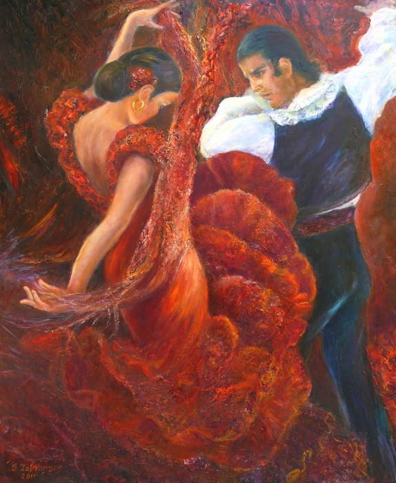 Flamenco couple Painting