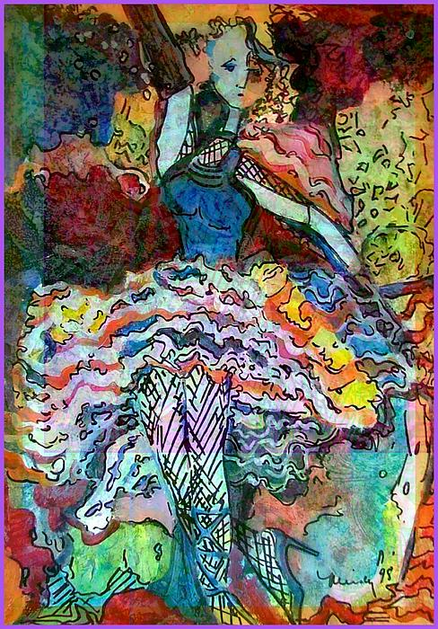 Flamenco Dancer Print by Mindy Newman