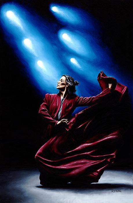 Flamenco Performance Print by Richard Young