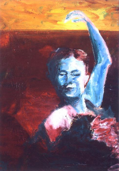 Flamenco Seco Print by LB Zaftig