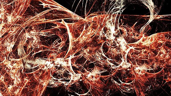 Flames Of Destruction Print by Sharon Lisa Clarke