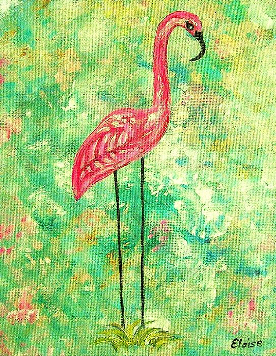 Eloise Schneider - Flamingo on Green