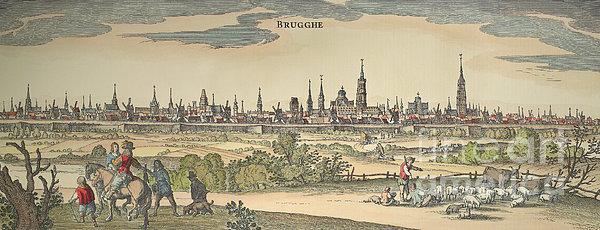 Flanders: Bruges, 1720 Print by Granger