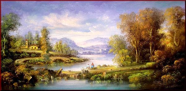 Battista Cagnana - Flemish landscape - Italy