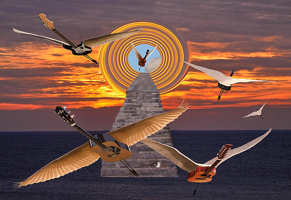 Flight Of The Guitars Print by Eric Kempson