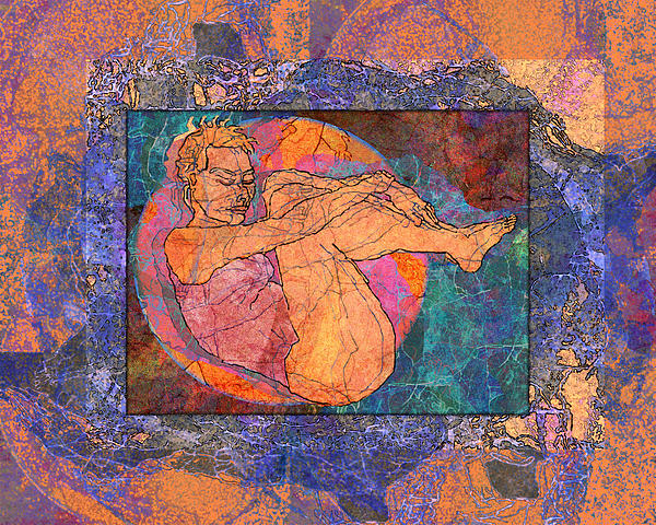 Floating Woman Print by Mary Ogle
