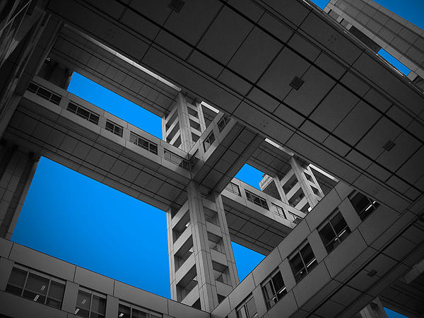 Floors Of Fuji Building Print by Naxart Studio