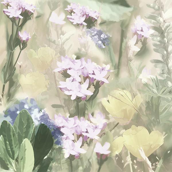 Floral Montage No. 4 Print by Bonnie Bruno
