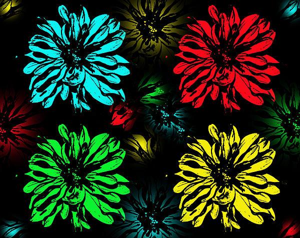 Aimee L Maher - Floral Pop Art