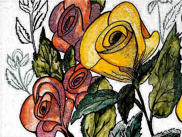 Iris Gelbart - Floral sketch 2