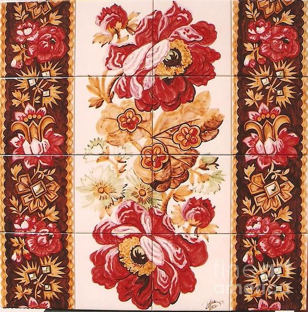 Florao Vermelho Print by Paula Teresa