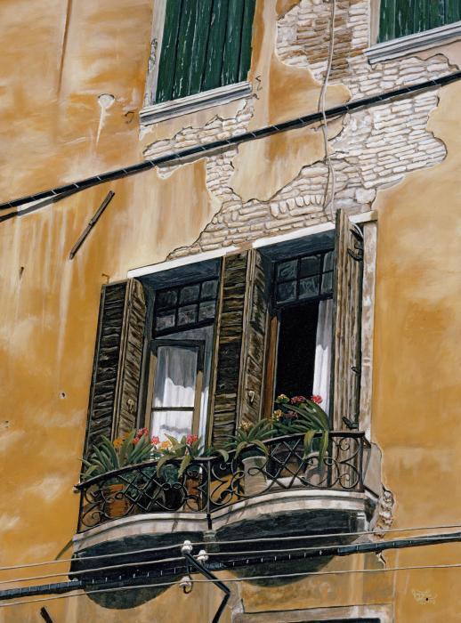 Florence Balcony Print by Jiji Lee